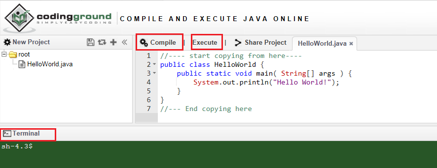 online java compiler and runner java learning academy
